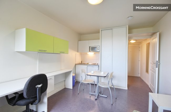 Furnished studio for rent in Valenciennes – Studio 20sqm for 2