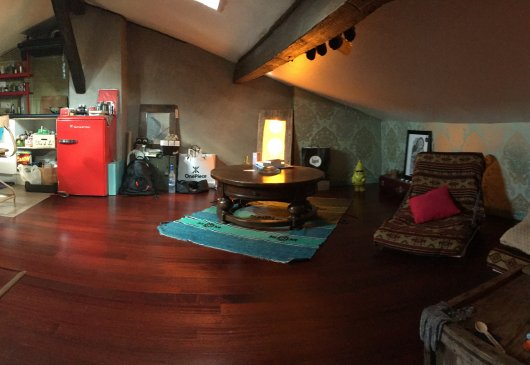 Apartment atypical attic
