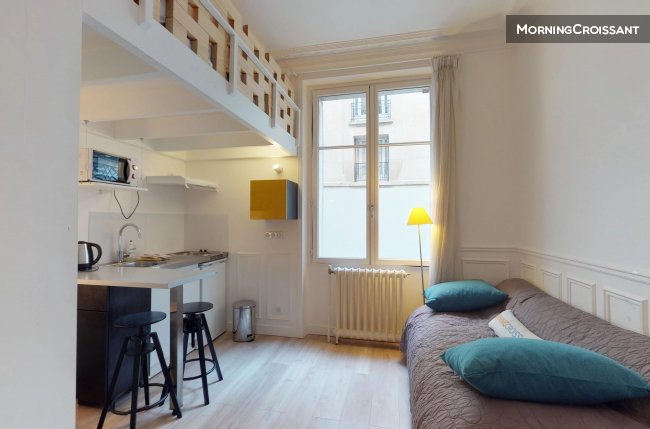 Furnished studio for rent in Paris – Small Robiac ...