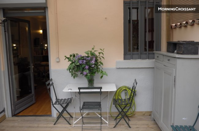 Lyon Croix Rousse furnished garden